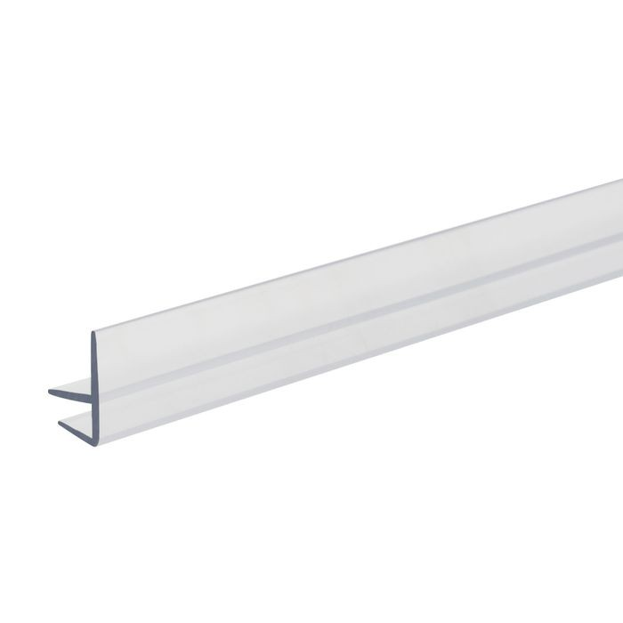 3/16in x 7/16in H | Clear Butyrate Shelf Guard Edge Retainer | 4ft Length