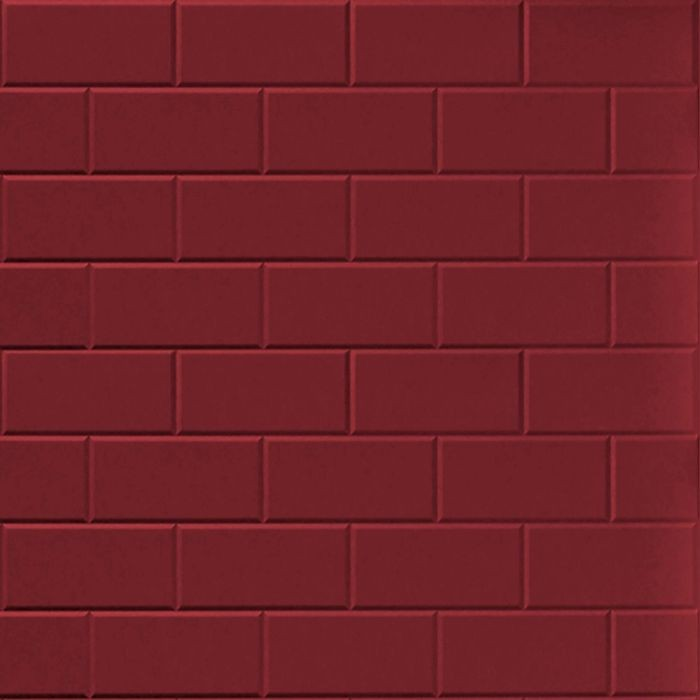 FlexLam 3D Wall Panel | 4ft W x 10ft H | Subway Tile Pattern | Merlot Finish