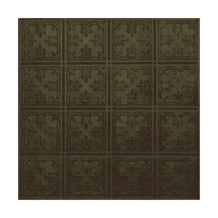 Tin Plated Stamped Steel Ceiling Tile | Nail Up/Glue Up Ceiling Tile | 2ft Sq | Antique Sage Finish