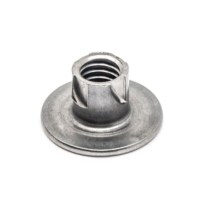 7/8in W | 5/16-18 Thread | Zinc Plated Hardened Steel | Propeller Nut