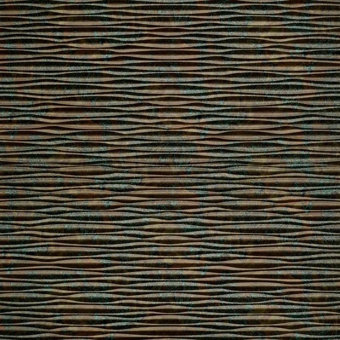 FlexLam 3D Wall Panel | 4ft W x 10ft H | Mojave Pattern | Copper Fantasy Finish