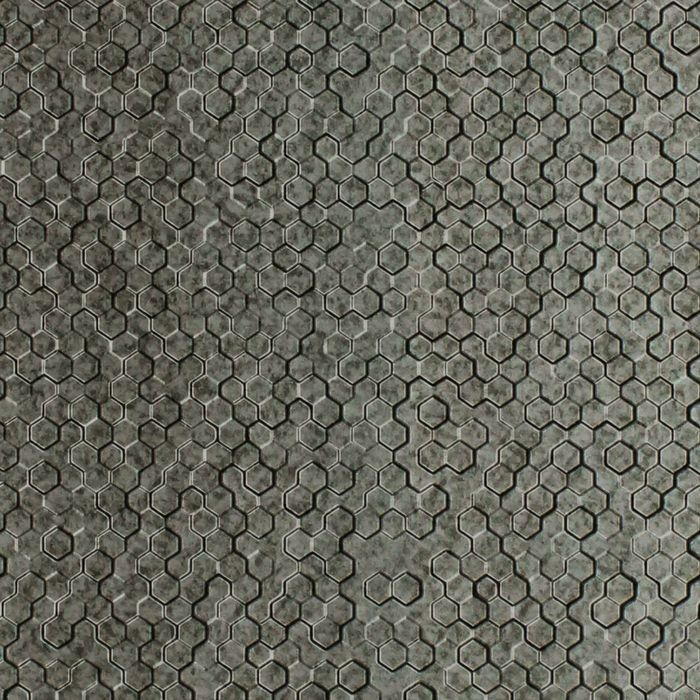 FlexLam 3D Wall Panel | 4ft W x 10ft H | Beehive Pattern | Galvanized Finish