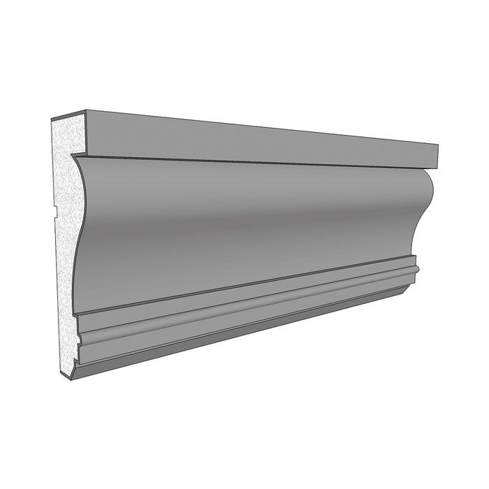 "10"" High x 3"" Deep Acrocore EPS Cornice Moulding 8' Length"