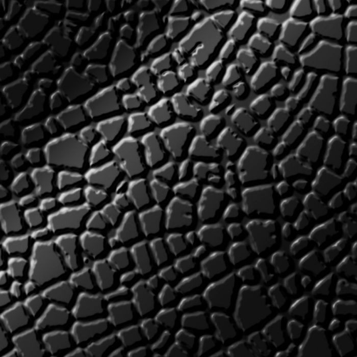 10' Wide x 4' Long Safari Pattern Gloss Black Finish Thermoplastic FlexLam Wall Panel
