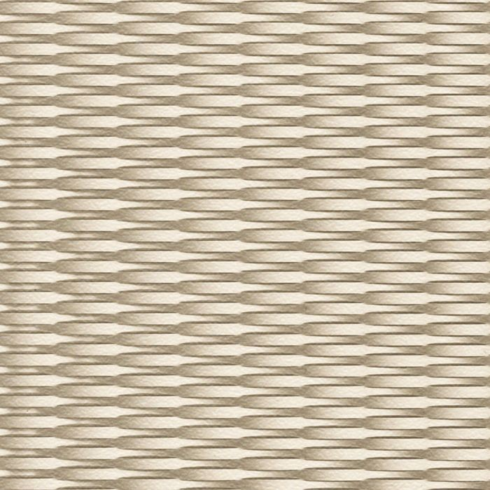 10' Wide x 4' Long Interlink Pattern Almond Finish Thermoplastic Flexlam Wall Panel
