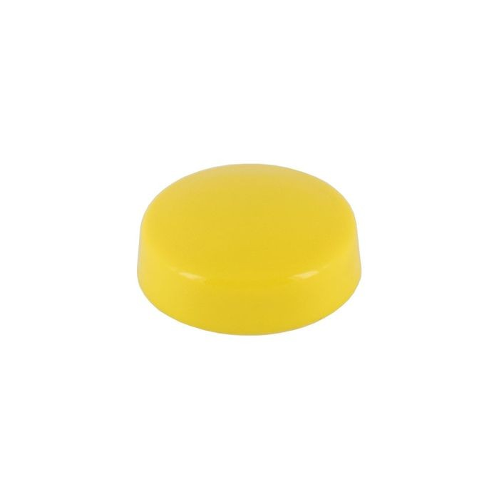 ".700"" Diameter Yellow Polypropylene Pop-On Screw Cover"