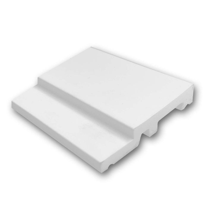 Orac Decor | High Impact Polystyrene Baseboard Moulding | Primed White | 4in Sample Piece | SX187 Series
