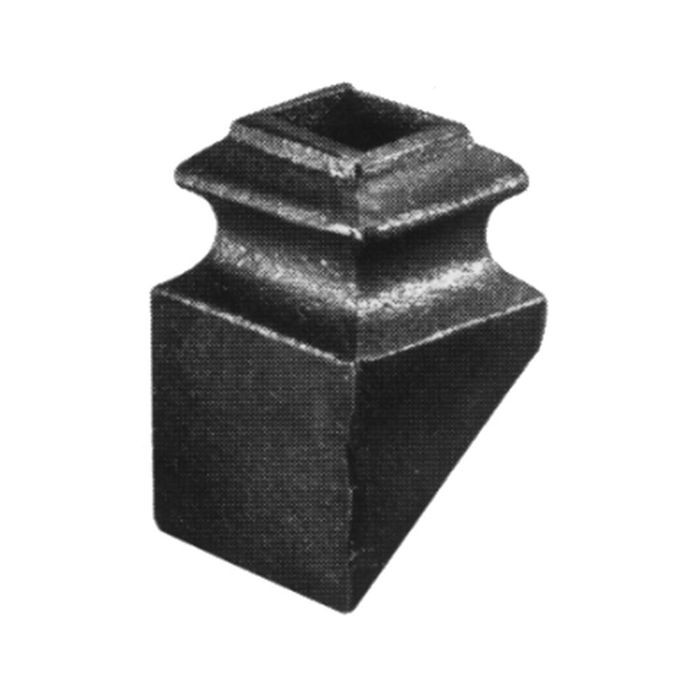 "1/2""Sq Hole 1 3/8""X2"" Pitch Cast Iron Shoe 40 Degree Pitch"