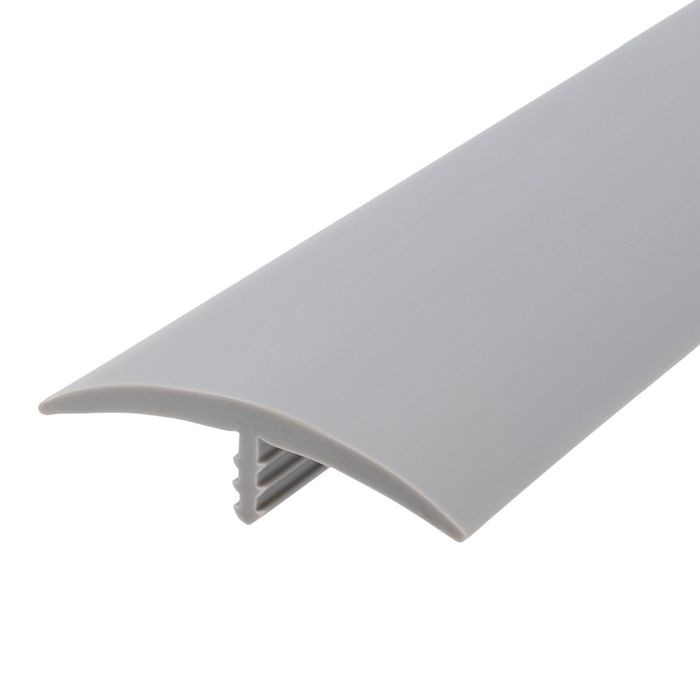 1-1/2in 125 Dove Gray Flexible Polyethylene | Center Barb Tee Moulding | 250ft Coil