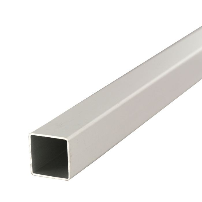 "1"" Square Clear Anodized Aluminum Tubing 8' Length"