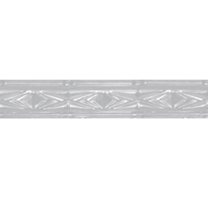 Tin Plated Stamped Steel Cornice | 3in H x 3-1/2in W x 3in Proj | White Finish | 4ft Long