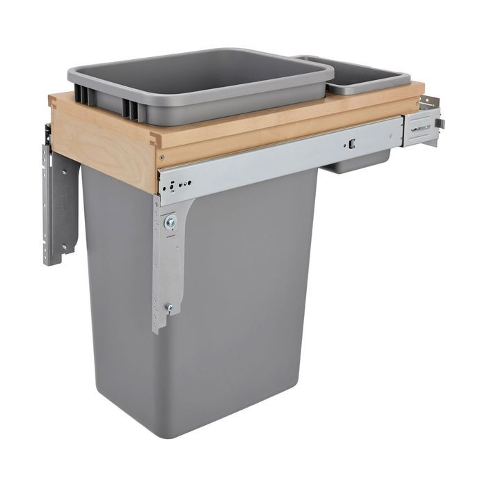 Single 50 Qt Container With Trash And Storage Bin