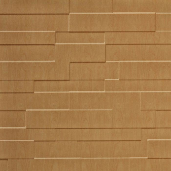10' Wide x 4' Long Tetrus Pattern Light Maple Finish Thermoplastic Flexlam Wall Panel