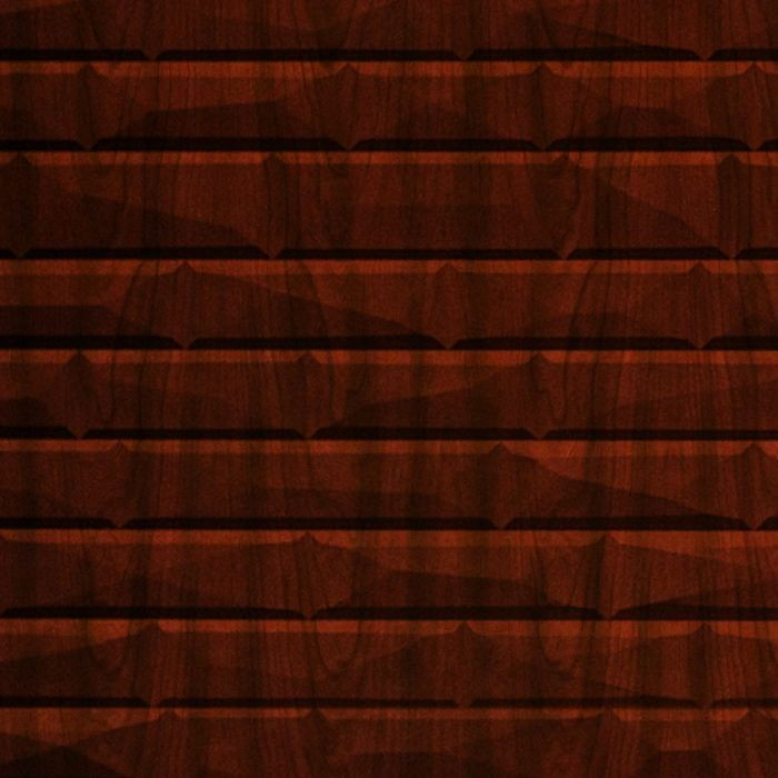 10' Wide x 4' Long Vista Pattern Welsh Cherry Finish Thermoplastic FlexLam Wall Panel