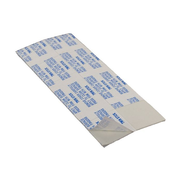 "1"" Square x 1/32"" Thick White Adhesive Square Dot"