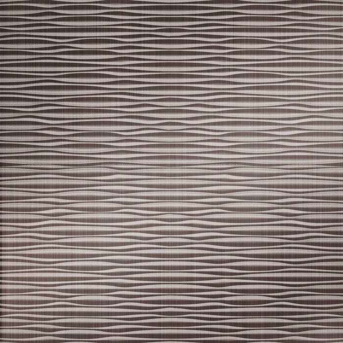 FlexLam 3D Wall Panel | 4ft W x 10ft H | Mojave Pattern | Brushed Nickel Finish
