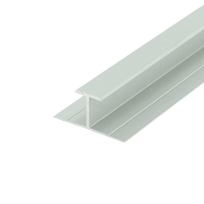 "1/2"" Clear Anodized (Satin) Finish Aluminum Divider Moulding 12' Length"