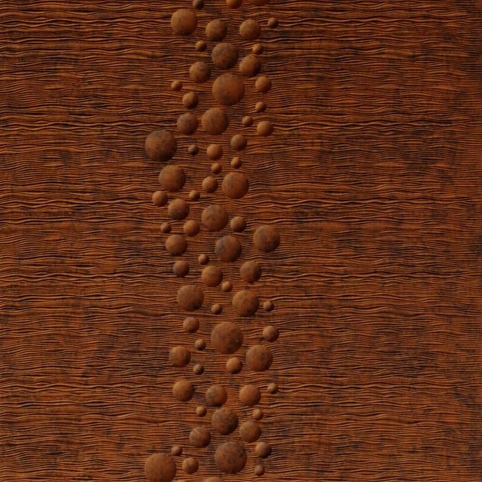 10' Wide x 4' Long Cascade Pattern Moonstone Copper Finish Thermoplastic Flexlam Wall Panel