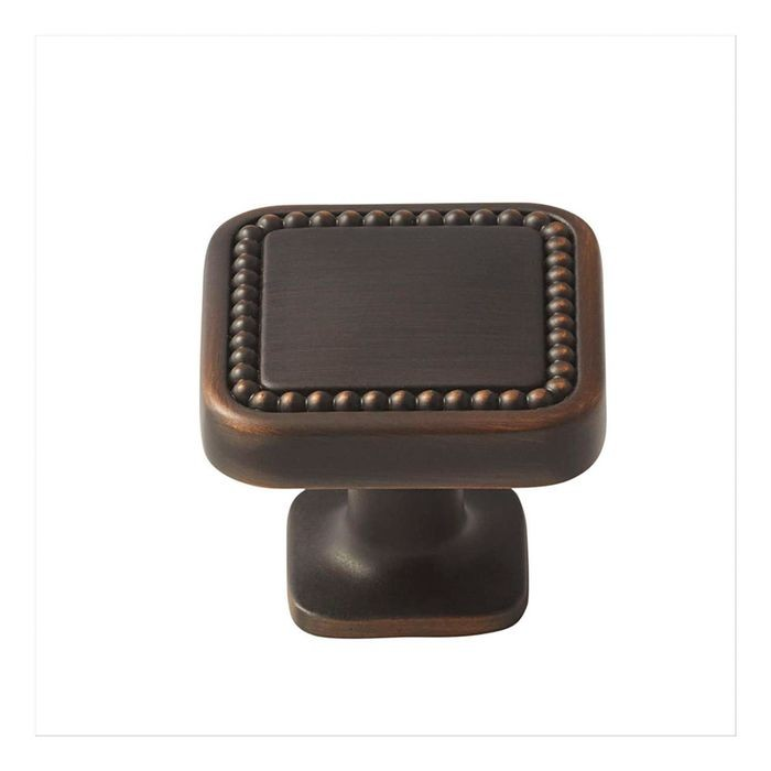 "1 1/4"" Square Knob Oil Rubbed Bronze"