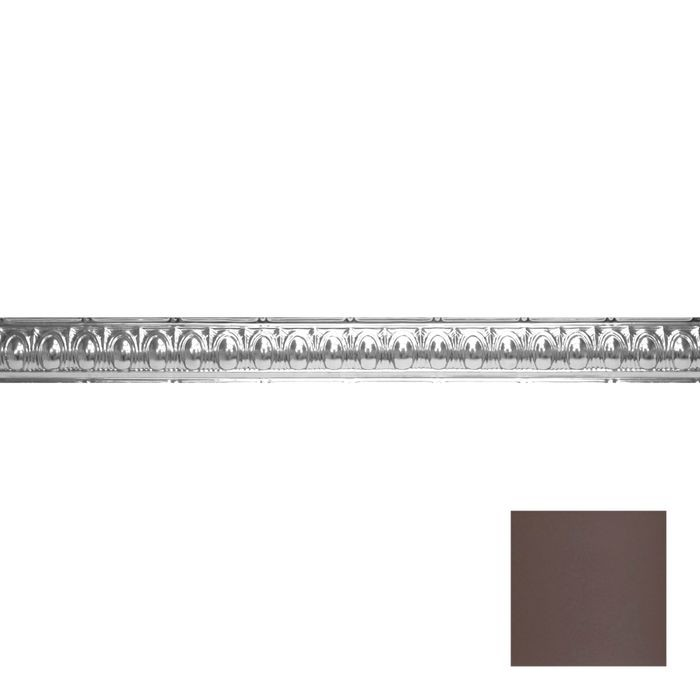 Tin Plated Stamped Steel Cornice | 3-1/2in H x 3-1/2in Proj | Titanium Finish | 4ft Long
