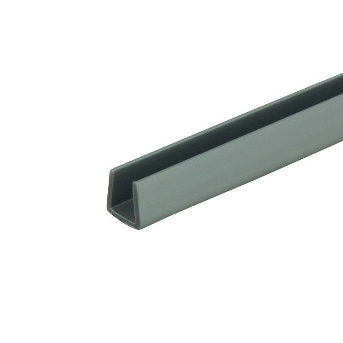 1/4in | Silver Rigid PVC | U Channel Moulding | 12ft Length