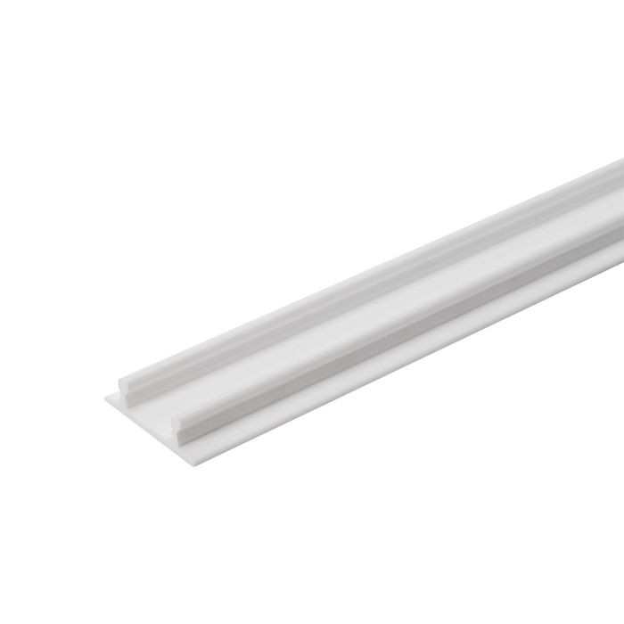 "White Double Flat Sliding Track For 5/8""Door 12ft"