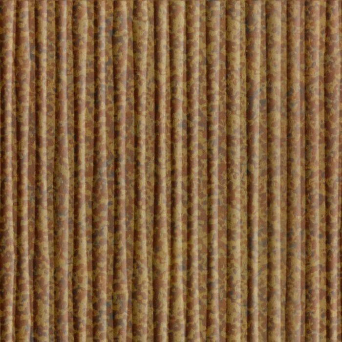 10' Wide x 4' Long Bamboo Pattern Cracked Copper Finish Thermoplastic Flexlam Wall Panel