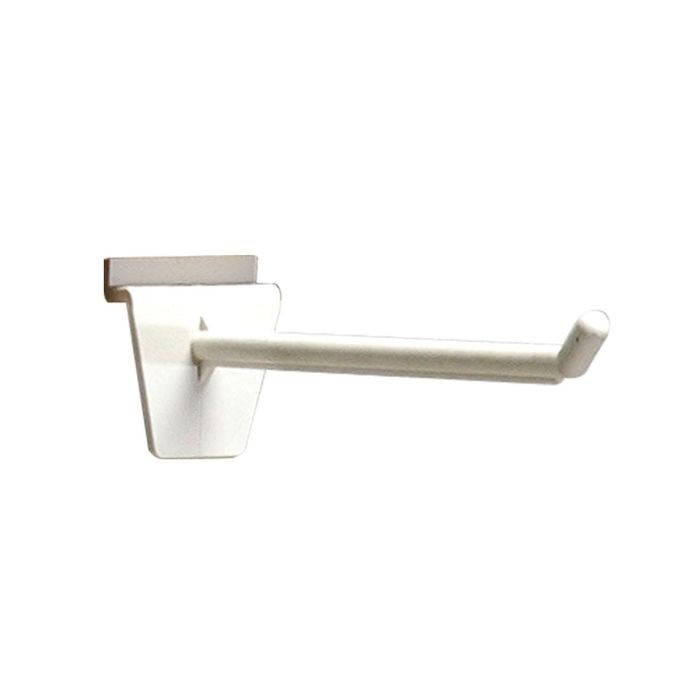 "White 2"" Long Slatwall Hook"