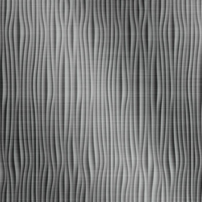 10' Wide x 4' Long Gobi Pattern Brushed Stainless Vertical Finish Thermoplastic Flexlam Wall Panel