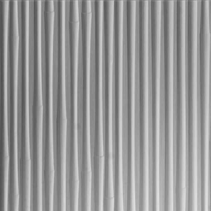 10' Wide x 4' Long Bamboo Pattern Brushed Aluminum Finish Thermoplastic Flexlam Wall Panel