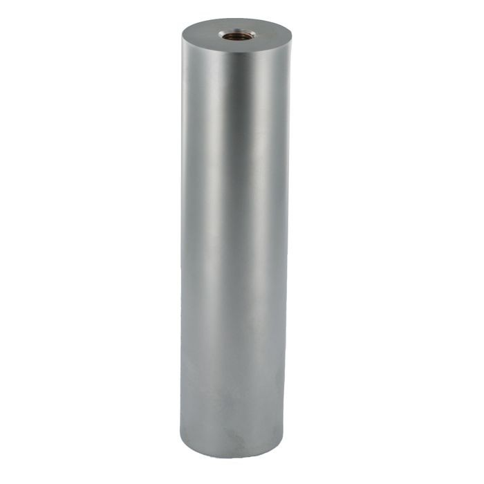 "6"" High x 2-3/8"" Diameter x 1/8"" Thick Matte Chrome Finish Solid Carbon Steel Under Mount Elevated Countertop Support Post"