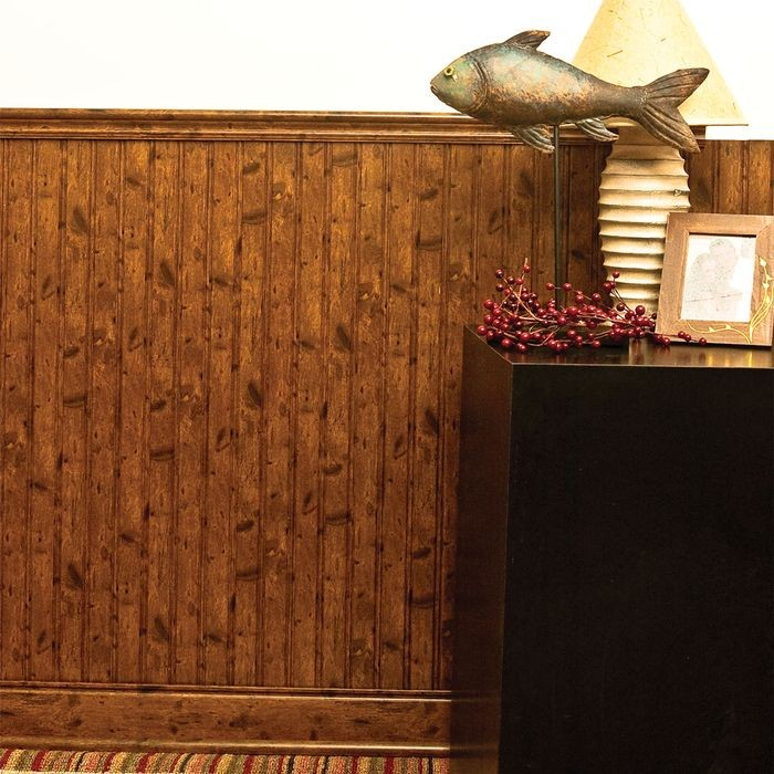 "Wainscot Kit Walnut/Chestnut to cover 36-7/8"" High x 8' Long Area"
