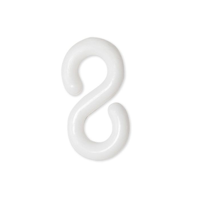 "1-1/2"" White Plastic S-Hook"