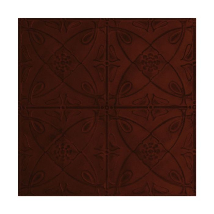 Tin Plated Stamped Steel Ceiling Tile | Nail Up/Glue Up Ceiling Tile | 2ft Sq | Antique Crimson Finish