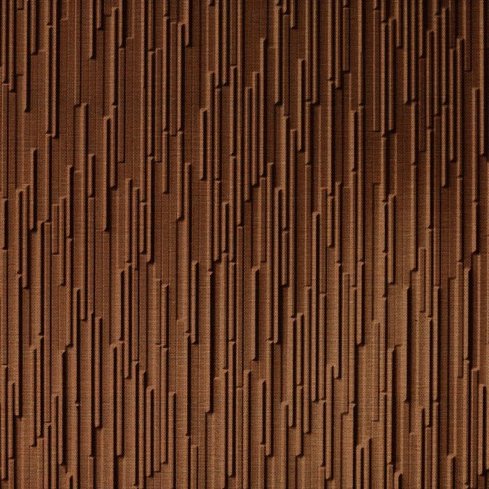 10' Wide x 4' Long Glacier Pattern Linen Chocolate Finish Thermoplastic FlexLam Wall Panel