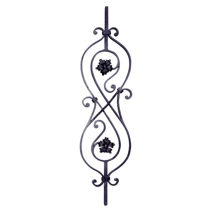 "10 5/8""W X 39 3/8""Tall Wrought Iron Panel"