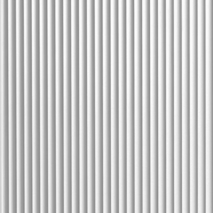 10' Wide x 4' Long Rib2 Pattern White Finish Thermoplastic FlexLam Wall Panel