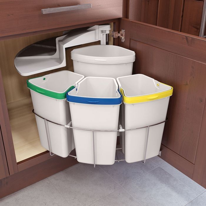 Swing Out Waste Bin System Four Bin Unit