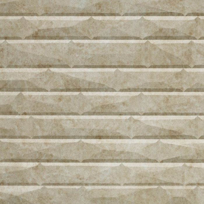 10' Wide x 4' Long Vista Pattern Travertine Finish Thermoplastic FlexLam Wall Panel
