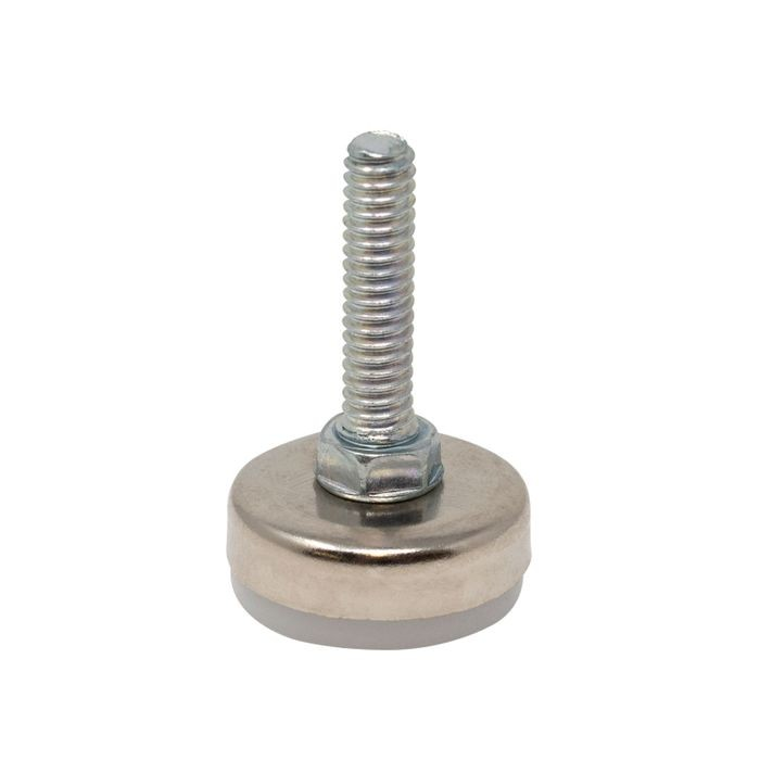 1/4-20 x 1in Long | 1in Dia Nickel Plated Shell with White Base | Titan Leveler