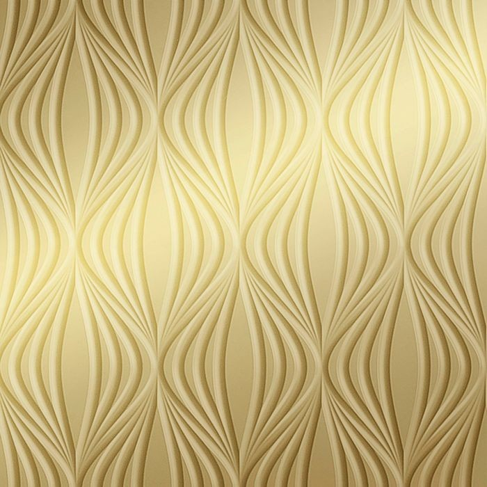10' Wide x 4' Long Shallot Pattern Mirror Gold Finish Thermoplastic Flexlam Wall Panel