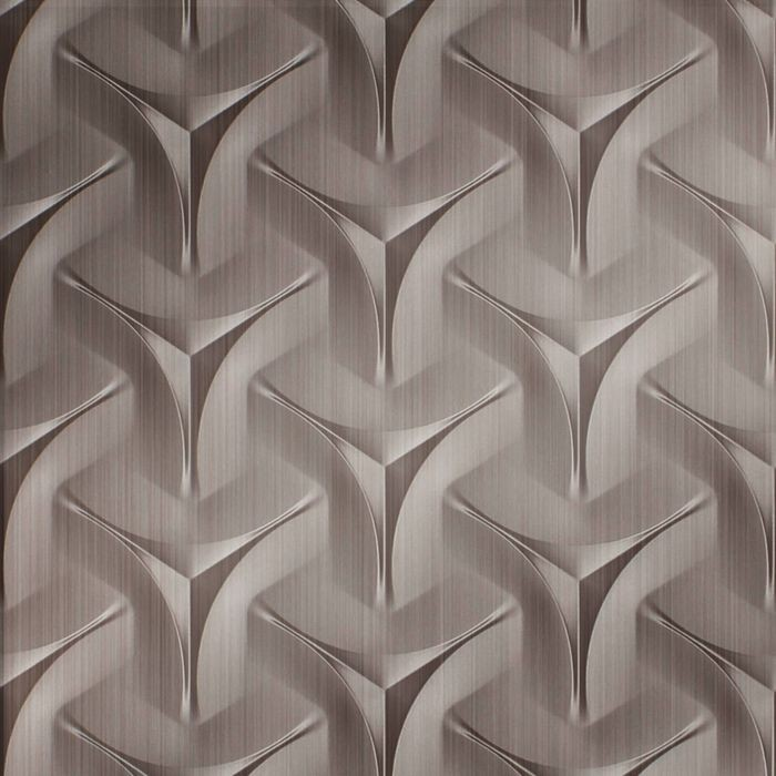 10' Wide x 4' Long Japanease Weave Pattern Brushed Nickel Finish Thermoplastic Flexlam Wall Panel