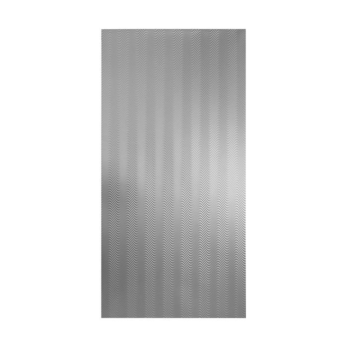 10' Wide x 4' Long Curves Pattern Galvanized Finish Thermoplastic Flexlam Wall Panel
