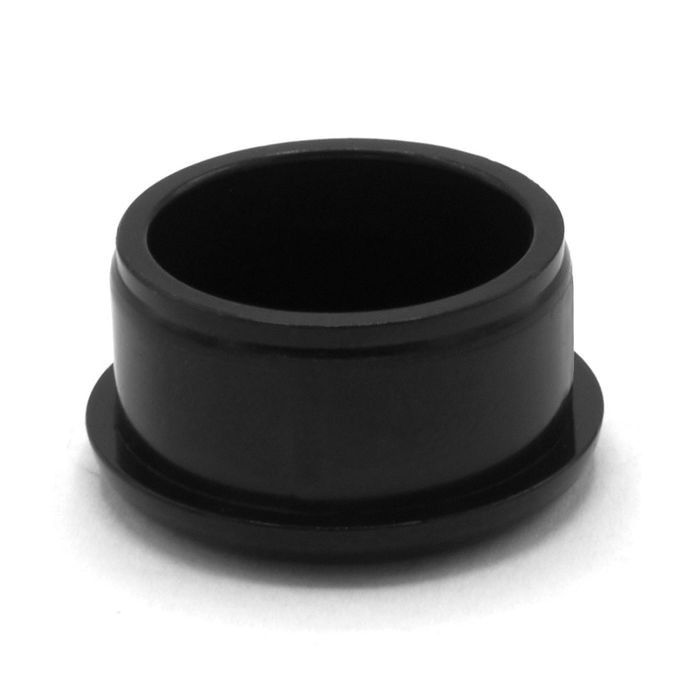 1in Dia | 18 Gauge Black Finish ABS | Plastic Round Inside End Cap for Tubing