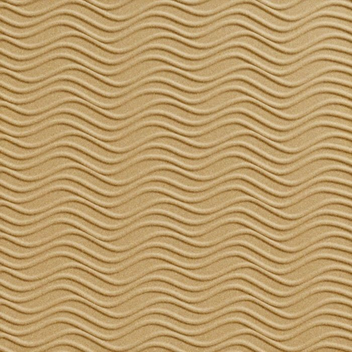 FlexLam 3D Wall Panel | 4ft W x 10ft H | Wavation Pattern | Argent Gold Finish