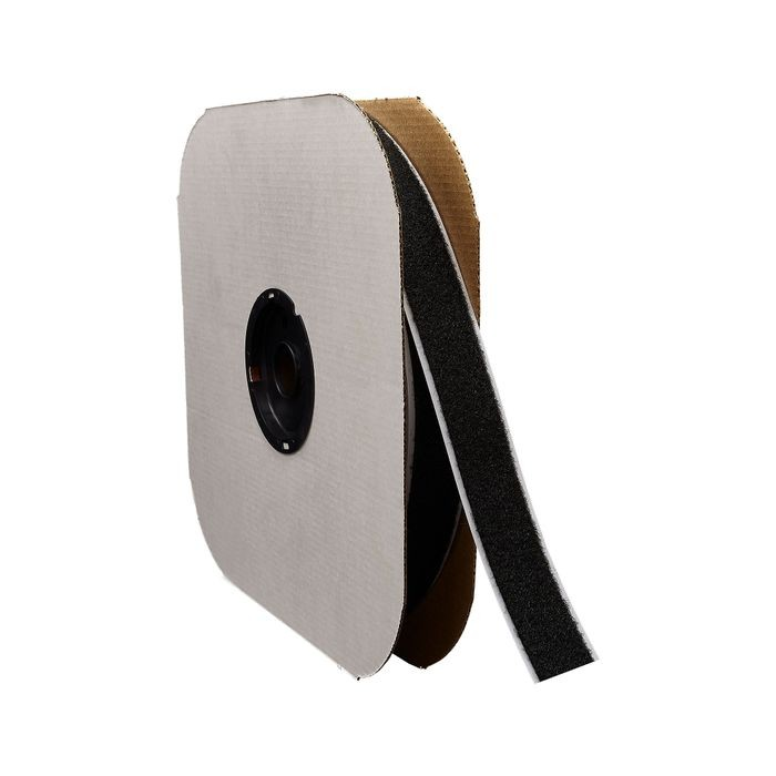 "1"" Black Sew Quality Hook Fastening Tape 150' Length"