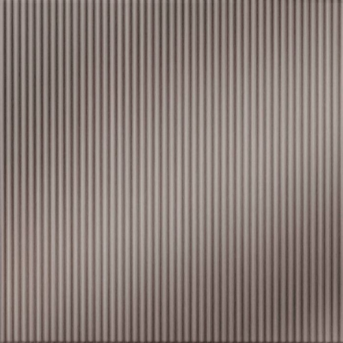 10' Wide x 4' Long Rib1 Pattern Brushed Nickel Finish Thermoplastic Flexlam Wall Panel