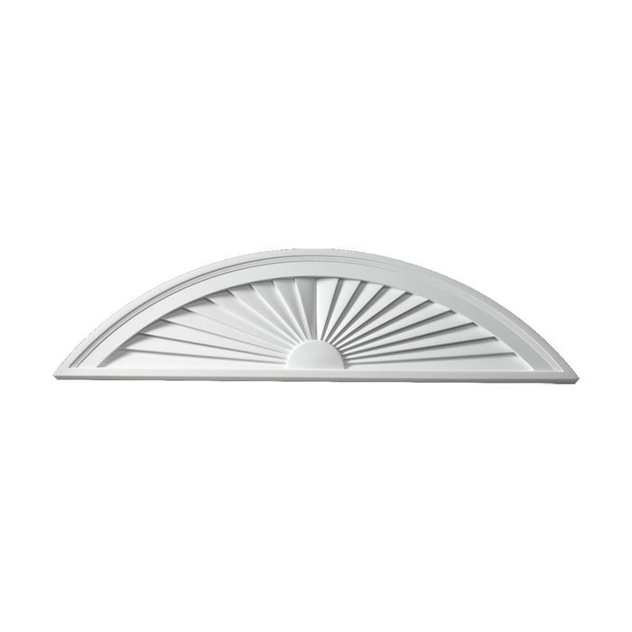 "10"" High x 40"" Wide Half Round Segment Sunburst Pediment"