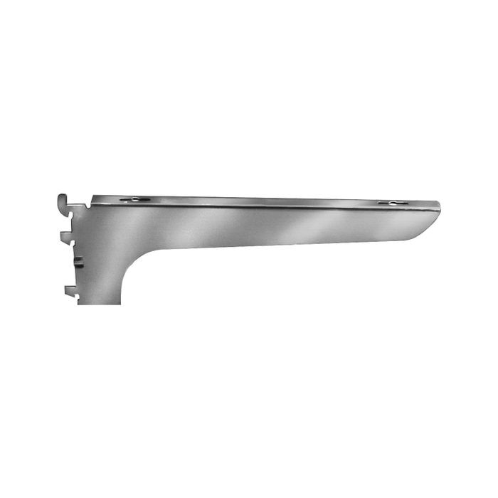 "12"" Satin Zink Center Wood Shelf Bracket"