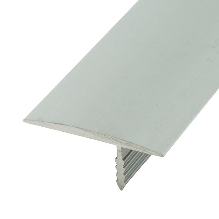 1-1/4in Mill Finish Flat Aluminum | Offset Barb Tee Moulding | 12ft Length
